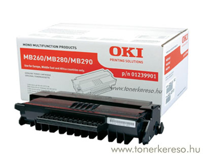 Oki 01239901 toner fekete (MB290) Oki MB280 lézernyomtatóhoz