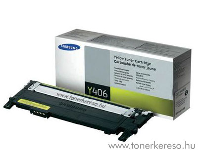 Samsung CLP-365/365W lézertoner yellow CLT-Y406S Samsung CLP-365 lézernyomtatóhoz