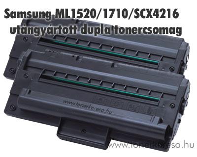 Samsung ML-1520/1710/SCX4216 utángyártott dupla tonercsomag Samsung ML-1755 lézernyomtatóhoz