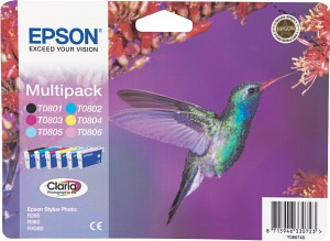 Epson Tintapatron T080740 Epson Stylus Photo RX585 tintasugaras nyomtatóhoz