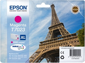 Epson Tintapatron T7023 Epson WorkForce Pro WP-4525DNF tintasugaras nyomtatóhoz