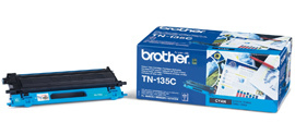 Brother TN 135 C cyan lézertoner színes lézernyomtatókhoz Brother MFC-9840CDW lézernyomtatóhoz
