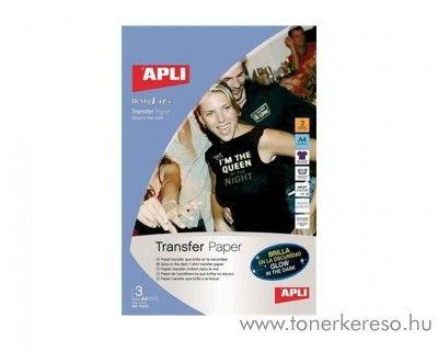 APLI vasalható fólia, tintasugaras, foszforeszkáló 3db/csomag