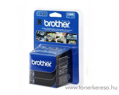 Brother DCP-110 eredeti black twin tintapatron pack LC900BK2 Brother MFC-410CN tintasugaras nyomtatóhoz