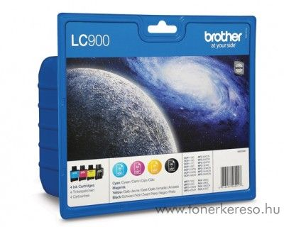 Brother DCP-110 eredeti CMYBK tintapatron pack LC900VALBP Brother FAX 1940CN faxhoz