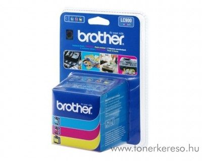 Brother DCP-110/MFC-210 eredeti CMY tintapatron pack LC900RBWBP Brother FAX 1840C faxhoz