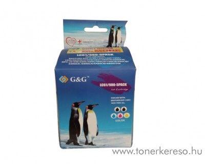 Brother DCP-145 utángyártott 5db-os patron csomag GGBLC1100MP5 Brother MFC-6890CDW tintasugaras nyomtatóhoz