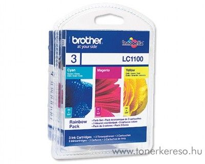 Brother DCP-6690 eredeti CMY tintapatron pack LC1100RBWBP