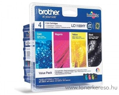 Brother DCP-6690 eredeti CMYBK tintapatron pack LC1100HYVALBP