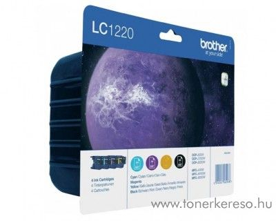 Brother DCP-J525 eredeti CMYBK tintapatron csomag LC1220VALBP