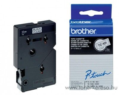 Brother eredeti TC101 black-clear szalag BRTC101RB Brother P-Touch 8EII mátrixnyomtatóhoz