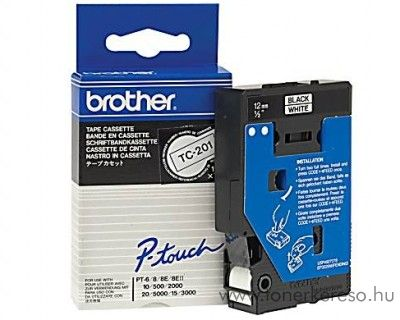 Brother eredeti TC201 black-white szalag BRTC201RB