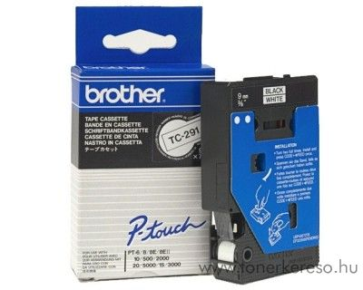 Brother eredeti TC291 black-white szalag BRTC291RB
