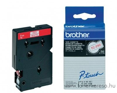 Brother eredeti TC292 red-white szalag BRTC292RB Brother P-Touch 20 mátrixnyomtatóhoz