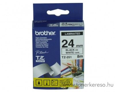 Brother eredeti TX251 black-white szalag