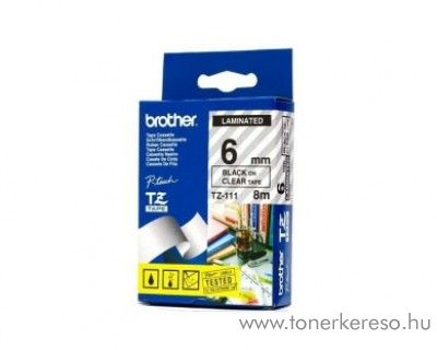 Brother eredeti TZe111 black-clear szalag BRTZe111RB Brother P-Touch 1230PC mátrixnyomtatóhoz