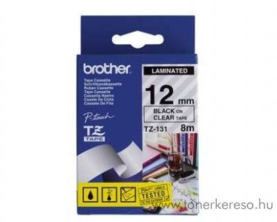Brother eredeti TZe131 black-clear szalag BRTZe131RB Brother P-Touch 2500PC mátrixnyomtatóhoz