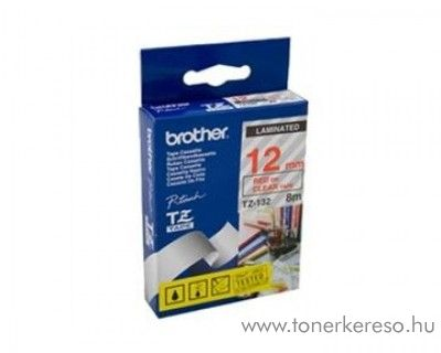 Brother eredeti TZe132 red-clear szalag BRTZe132RB Brother P-Touch 2420PC mátrixnyomtatóhoz