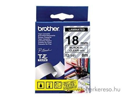 Brother eredeti TZe141 black-clear szalag BRTZe141RB Brother P-Touch 2500PC mátrixnyomtatóhoz