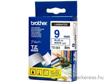Brother eredeti TZe223 blue-white szalag BRTZe223RB