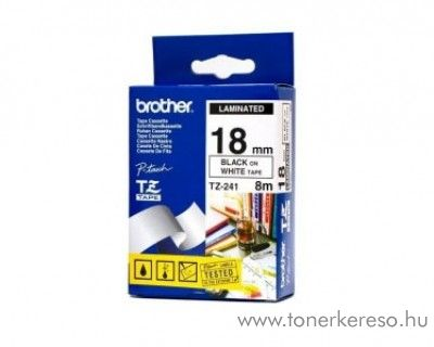 Brother eredeti TZe241 black-white szalag BRTZe241RB