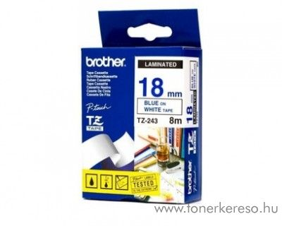 Brother eredeti TZe243 blue-white szalag BRTZe243RB