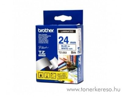 Brother eredeti TZe253 blue-white szalag BRTZe253RB Brother P-Touch 2430PC mátrixnyomtatóhoz