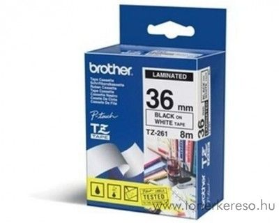 Brother eredeti TZe261 black-white szalag BRTZe261RB
