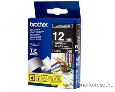 Brother eredeti TZe335 white-black szalag BRTZe335RB