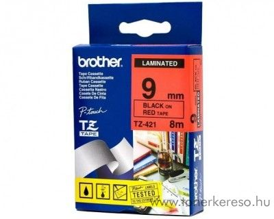 Brother eredeti TZe421 black-red szalag BRTZe421RB Brother P-Touch 2430PC mátrixnyomtatóhoz