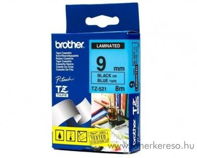 Brother eredeti TZe521 black-blue szalag BRTZe521RB