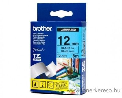 Brother eredeti TZe531 black-blue szalag BRTZe531RB Brother P-Touch 2430PC mátrixnyomtatóhoz