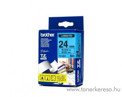 Brother eredeti TZe551 black-blue szalag BRTZe551RB