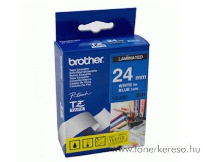 Brother eredeti TZe555 white-blue szalag BRTZe555RB