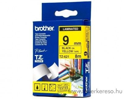 Brother eredeti TZe621 black-yellow szalag BRTZe621RB Brother P-Touch 9800PCN mátrixnyomtatóhoz