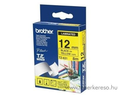 Brother eredeti TZe631 black-yellow szalag BRTZe631RB Brother P-Touch 1005FB mátrixnyomtatóhoz