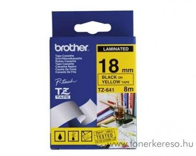 Brother eredeti TZe641 black-yellow szalag BRTZe641RB