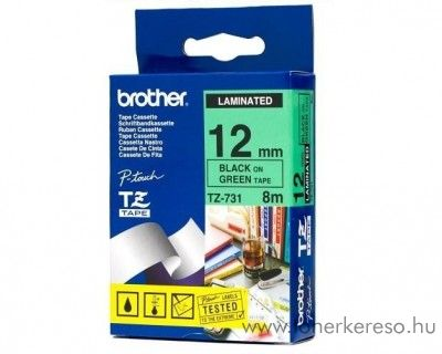Brother eredeti TZe731 black-green szalag BRTZe731RB