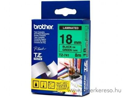 Brother eredeti TZe741 black-green szalag BRTZe741RB