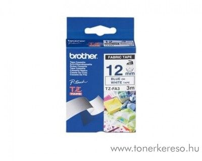 Brother eredeti TZeFA3 blue-white szalag BRTZeFA3RB Brother P-Touch 1230PC mátrixnyomtatóhoz