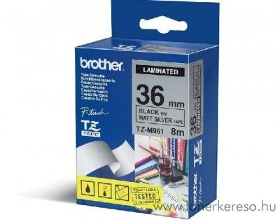 Brother eredeti TZeM961 black-matt silver szalag BRTZeM961RB Brother P-Touch 9500PC mátrixnyomtatóhoz