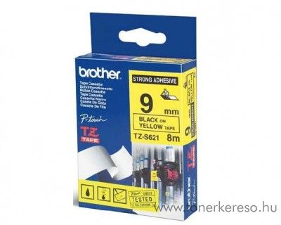 Brother eredeti TZeS621 black-yellow szalag BRTZeS621RB Brother P-Touch 2500PC mátrixnyomtatóhoz
