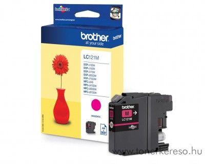Brother LC121M eredeti magenta tintapatron J132W/J552DW/J470DW Brother MFC-J650DW tintasugaras nyomtatóhoz