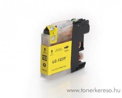 Brother LC123YXL nagykap yellow utángyártott tintapatron Brother MFC-J245 tintasugaras nyomtatóhoz