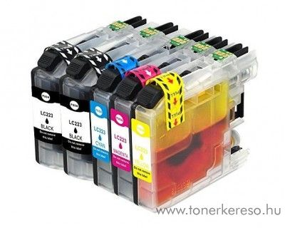 Brother MFC-J4420DW (LC223) 5 db-os utángyártott patron csomag Brother MFC-J4625DW tintasugaras nyomtatóhoz