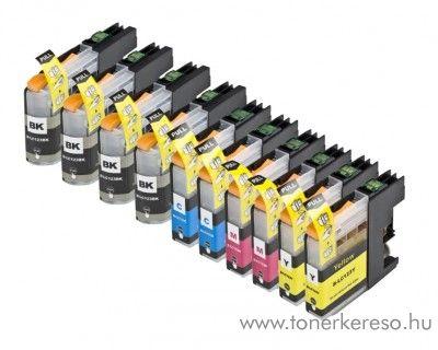 Brother MFC-J4510DW utángyártott 10db-os patroncsomag OBBLC123MP Brother MFC-J650DW tintasugaras nyomtatóhoz