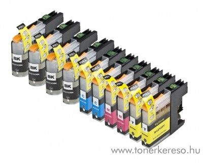 Brother MFC-J4510DW utángyártott 10db-os patroncsomag OBBLC123MP Brother MFC-J245 tintasugaras nyomtatóhoz