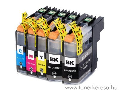 Brother MFC-J4510DW utángyártott 5db-os csomag RBBLC123MP5 Brother DCP-J552DW tintasugaras nyomtatóhoz