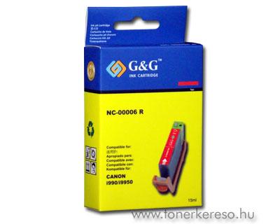 Canon BCI-6 red tintapatron G&G GGC6R Canon i9950 tintasugaras nyomtatóhoz