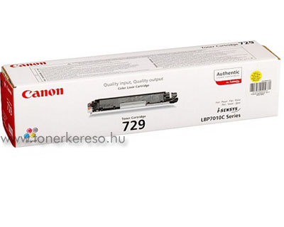 Canon Cartridge 729 yellow lézertoner